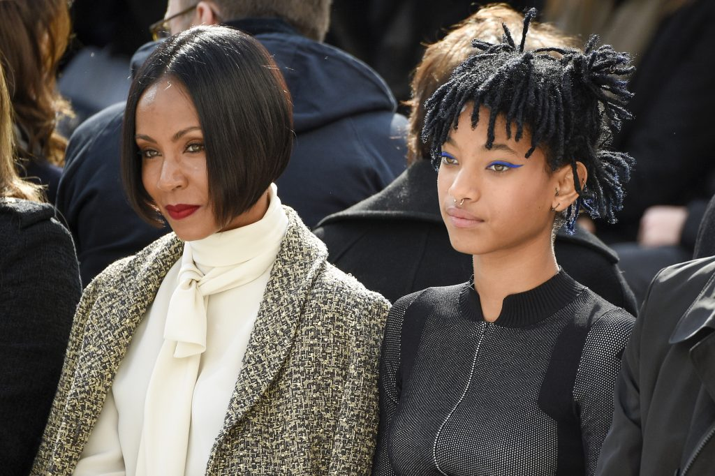 Jada Pinkett Smith and Willow Smith attend the Chanel show
