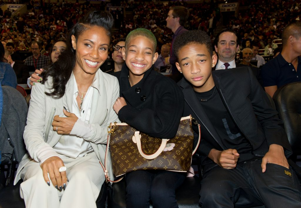 Jada Pinkett Smith, Willow Smith, and Jaden Smith