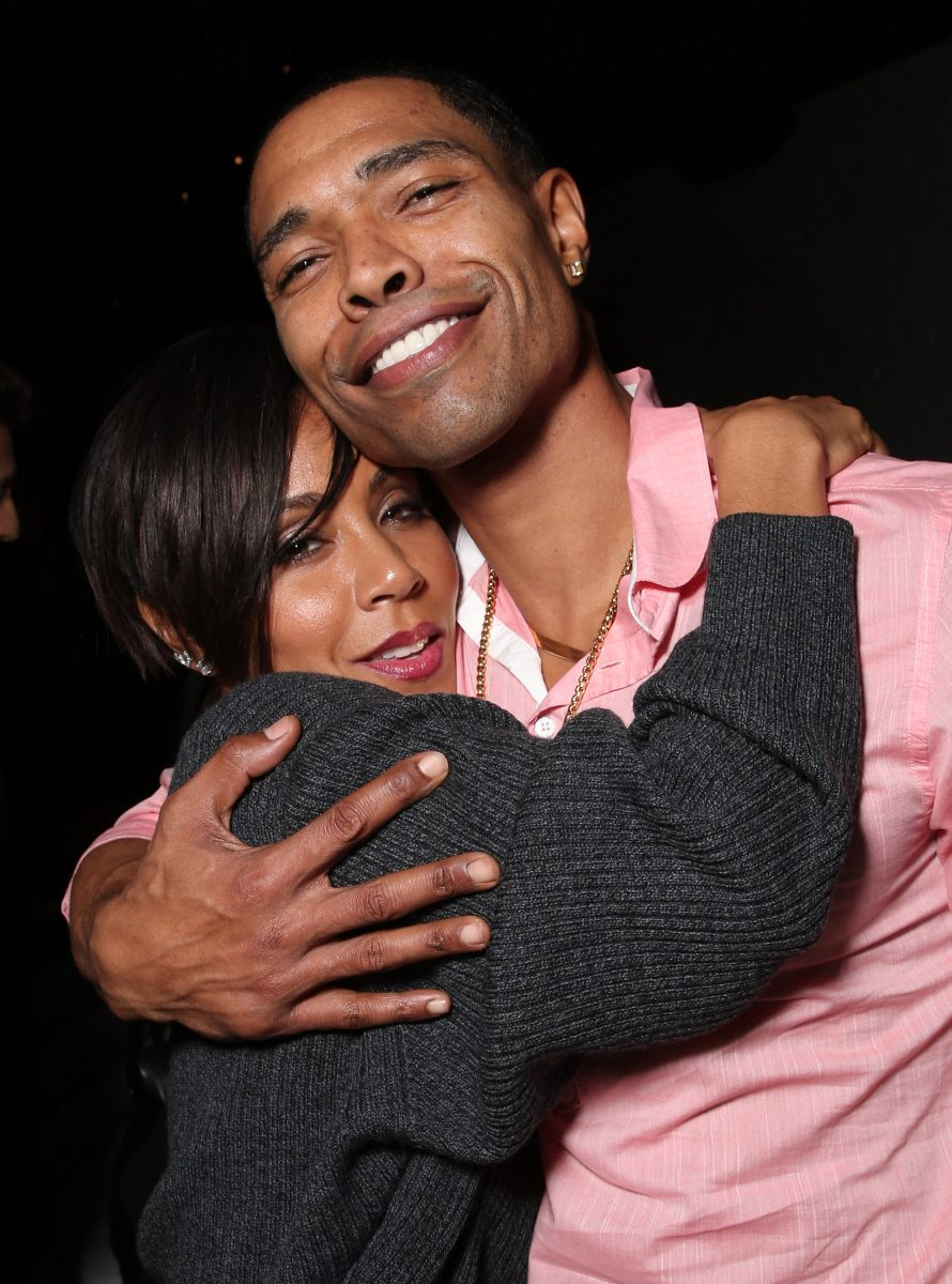 """ada Pinkett Smith and brother Caleeb Pinkett attend the after party for a screening Of Columbia Pictures' """"Concussion"""" on November 23, 2015 in Westwood, California."""
