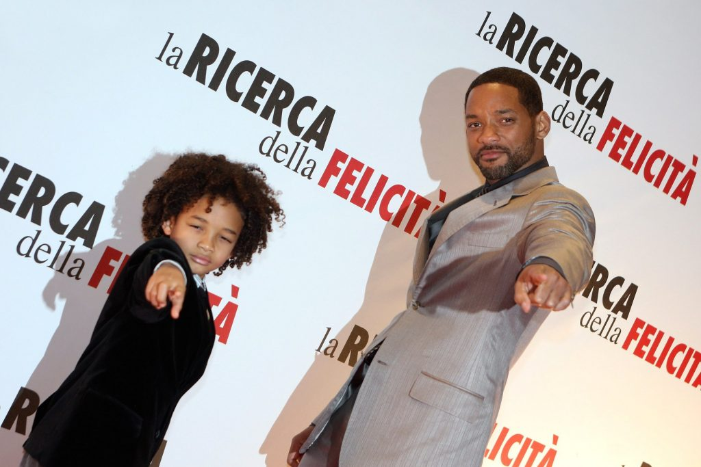 Will Smith (R) and his son Jaden Smith attend the 'Pursuit Of Happyness' premiere