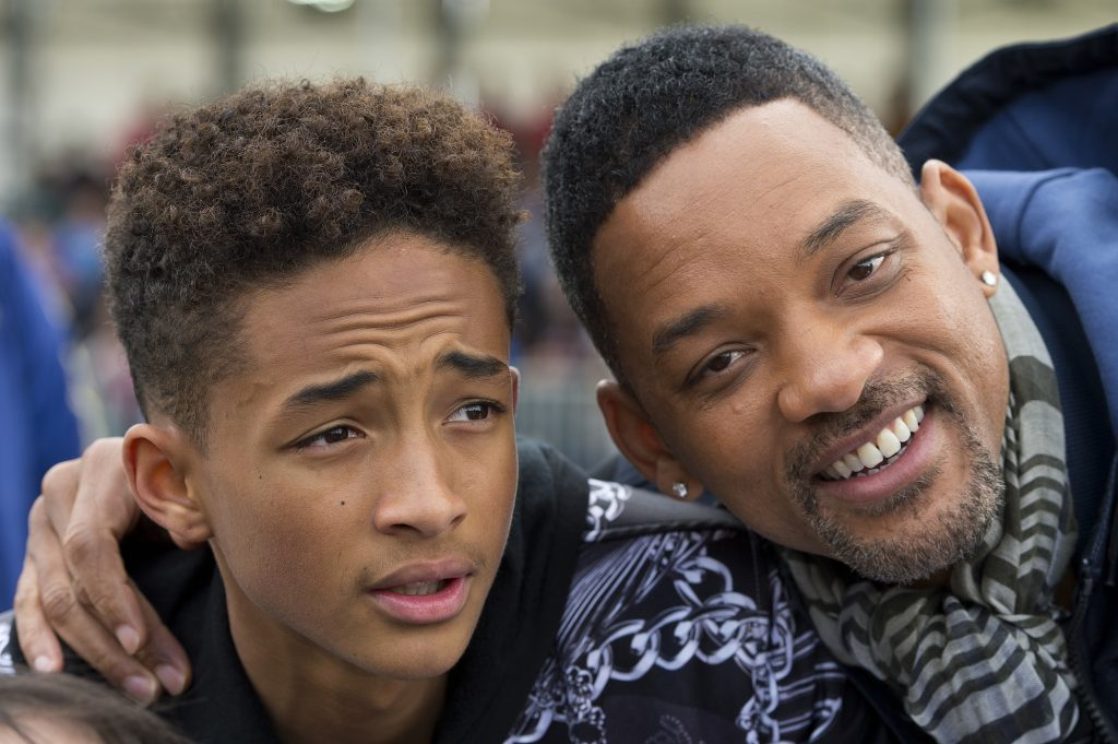 (L-R) Jaden Smith and Will Smith attend UEFA's annual festival