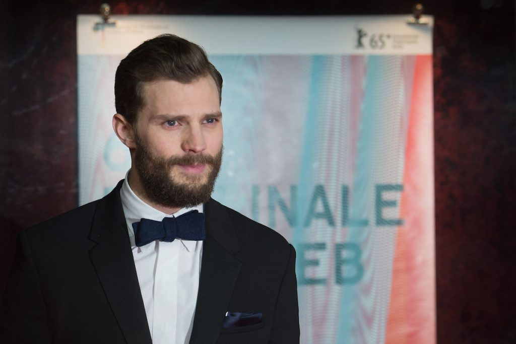 Jamie Dornan attends the 'Fifty Shades of Grey' premiere during the 65th Berlinale International Film.