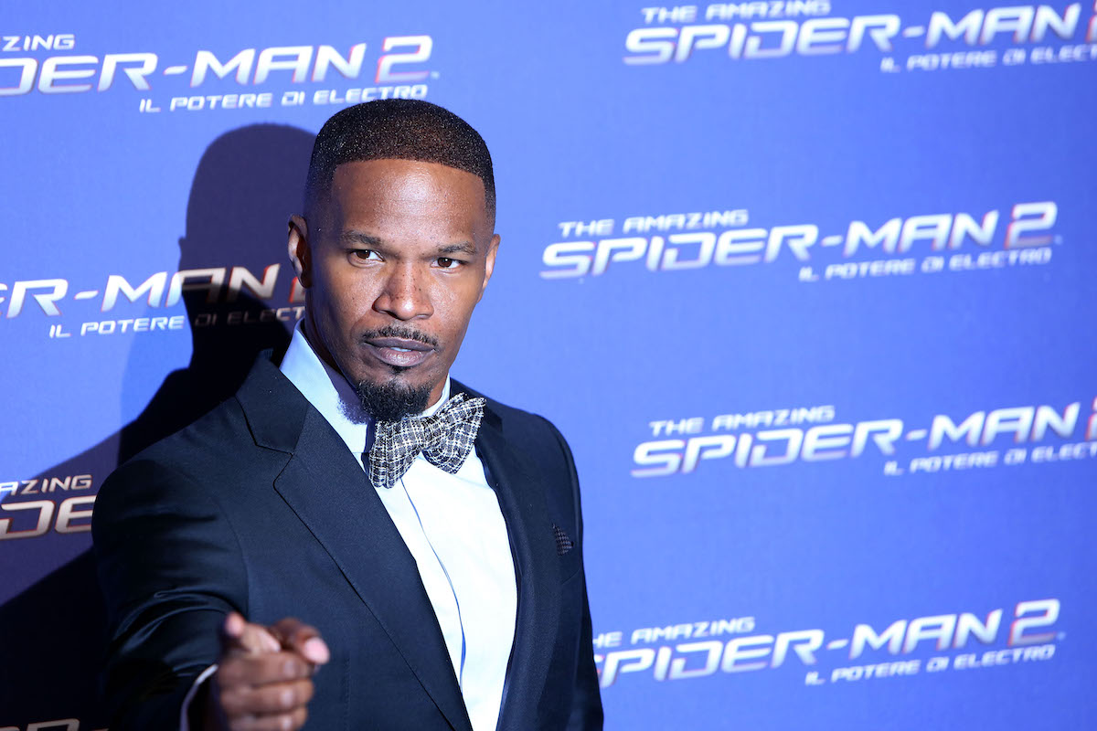 Jamie Foxx at the Rome premiere of 'The Amazing Spider-Man 2'