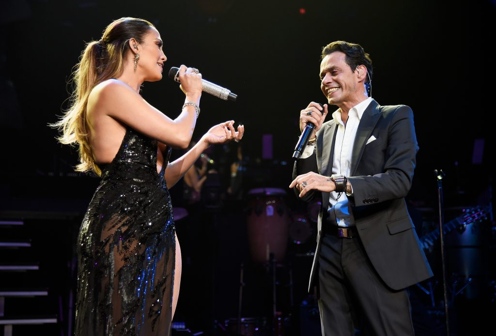 Jennifer Lopez and Marc Anthony at Radio City Music Hall in 2016 | Kevin Mazur/WireImage