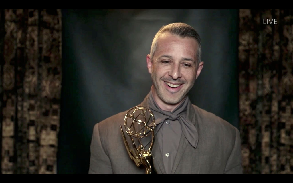 Succession cast member Jeremy Strong at the Emmys