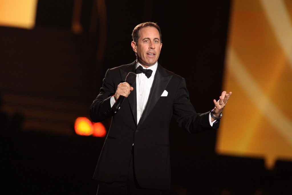 Jerry Seinfeld attends 'Surprise Oprah! A Farewell Spectacular' at the United Center on May 17, 2011