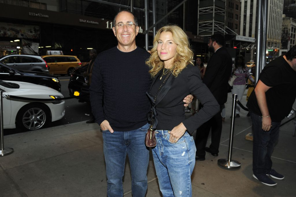 Jerry Seinfeld and Jessica Seinfeld attend a screening of 'Just Mercy' in 2019