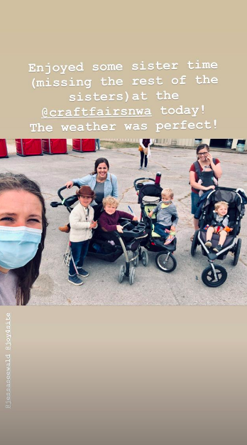 Jill Duggar's Instagram Story with Jessa Duggar and Joy-Anna Duggar