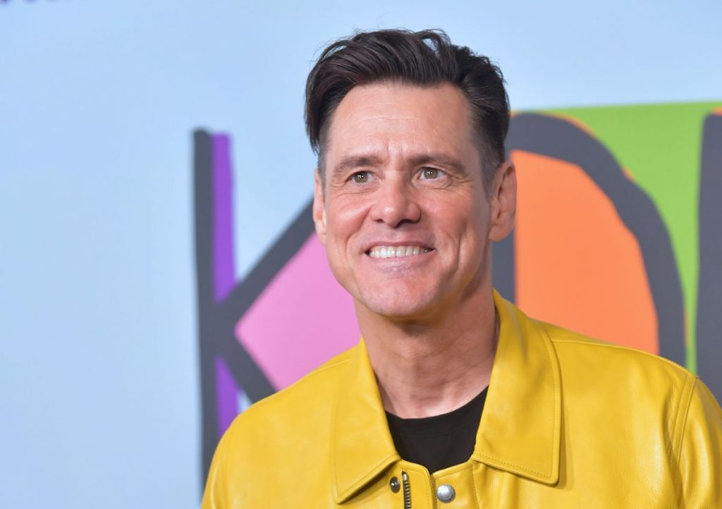"Jim Carrey arrives for Showtime's premiere ""Playing"" on September 5, 2018."