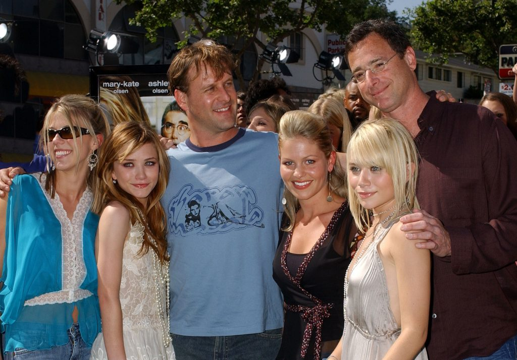 Jodie Sweetin, Mary Kate Olsen, Dave Coulier, Candace Cameron, Ashley Olsen and Bob Saget