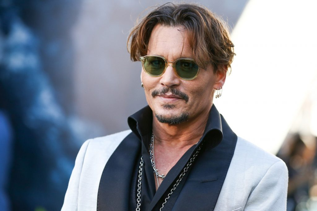Johnny Depp at a movie premiere