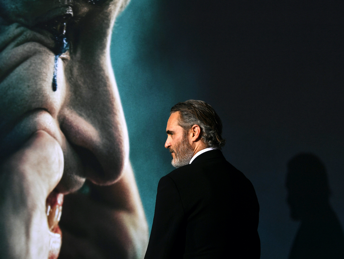 Joaquin Phoenix at the 'Joker' premiere