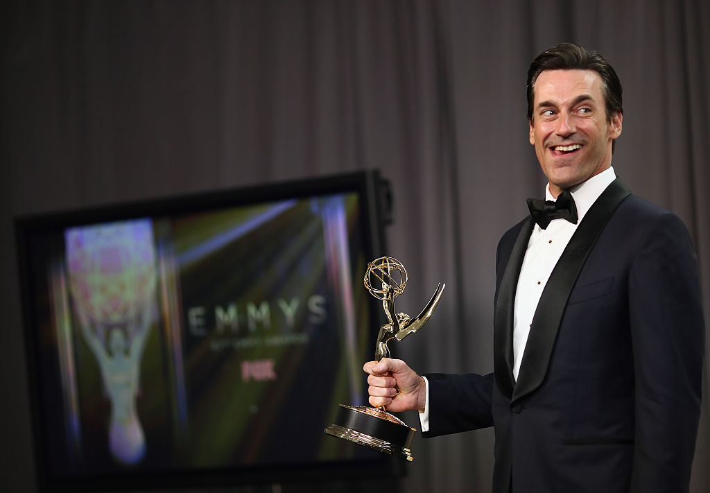 Jon Hamm at the Emmys for Mad Men