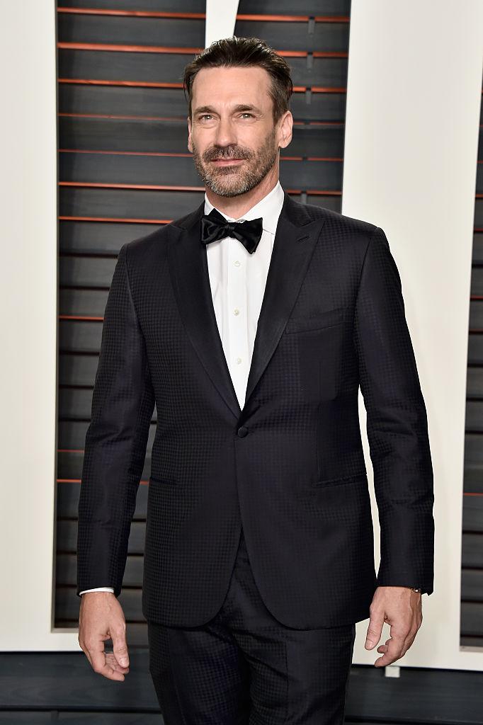 Black Mirror star Jon Hamm at an Oscar party