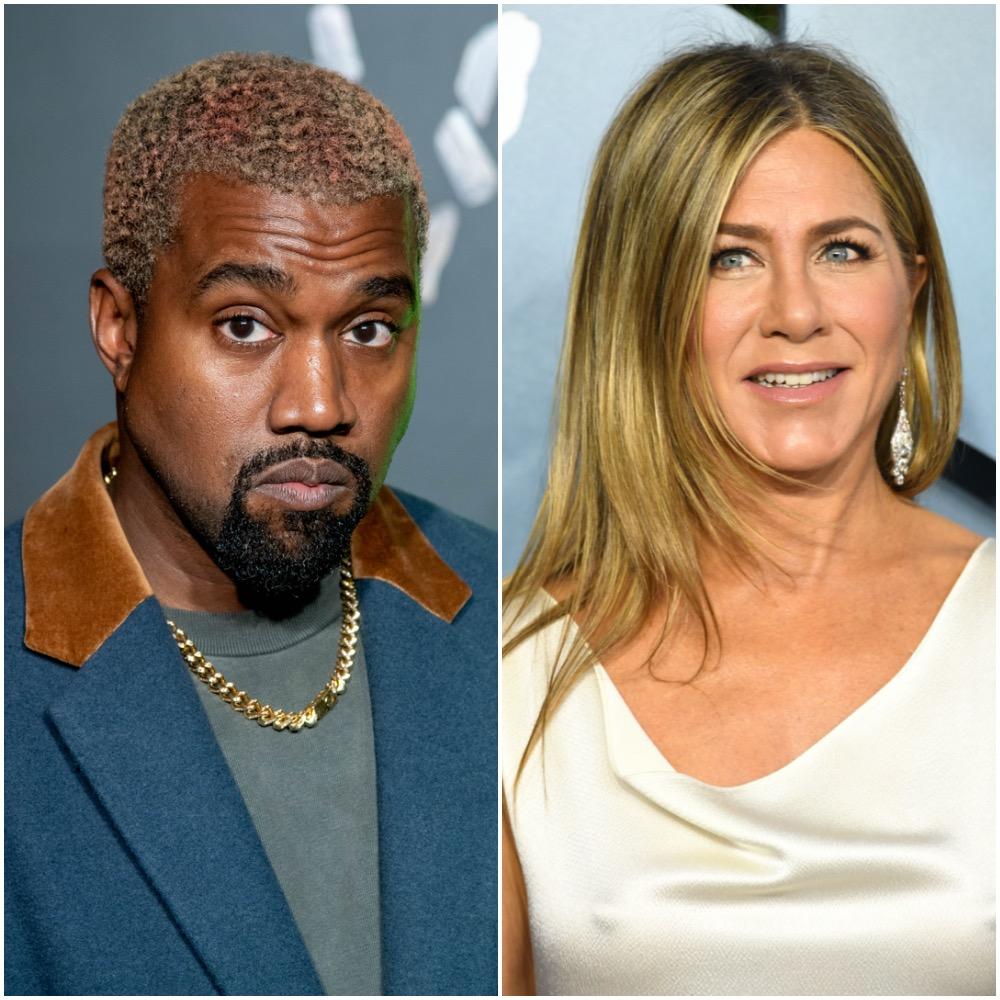 Kanye West and Jennifer Aniston