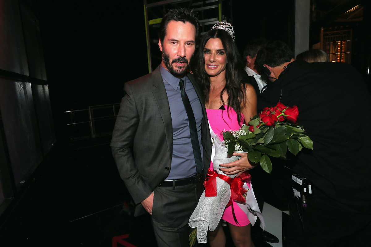 Keanu Reeves and Sandra Bullock at Spike TV's 'Guys Choice 2014'