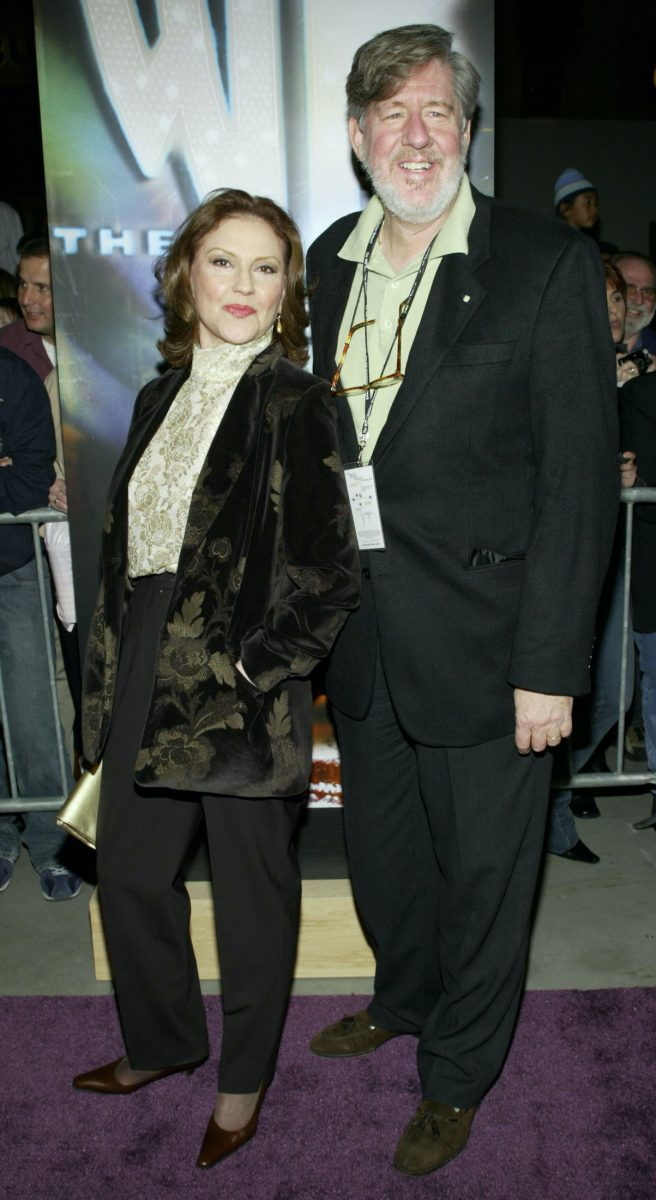 Kelly Bishop and Edward Herrmann attend the WB Network's 2003 Winter Party
