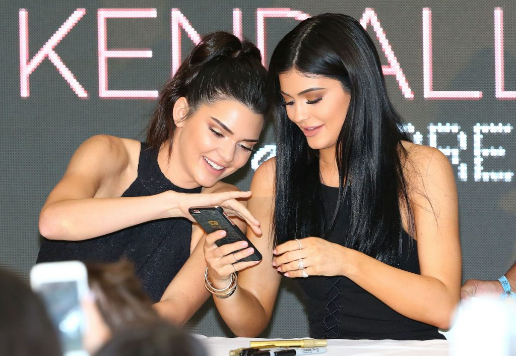 Kendall Jenner and Kylie Jenner arrive at Chadstone Shopping Centre on November 18, 2015 in Melbourne, Australia
