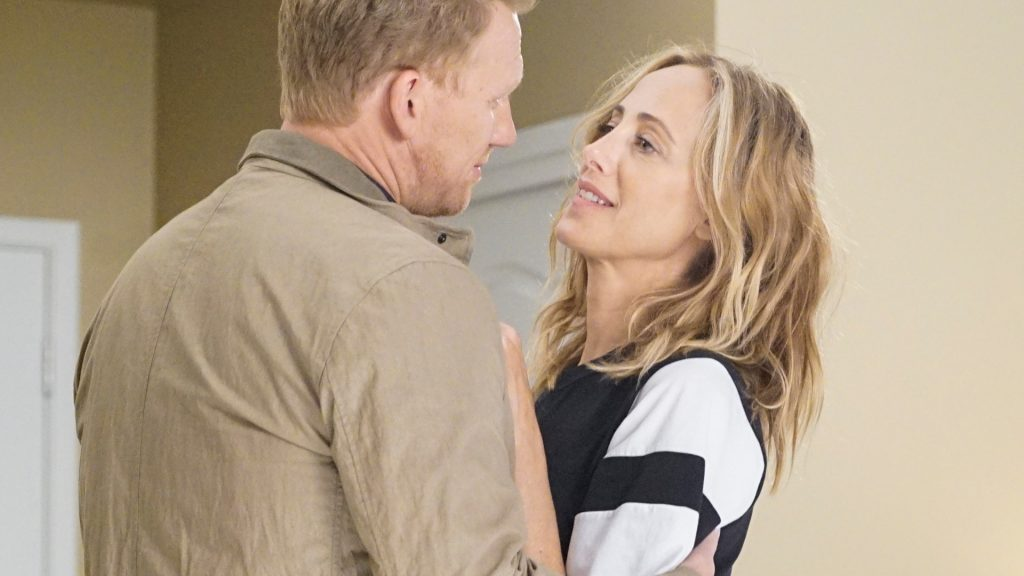 Kevin McKidd as Owen Hunt and Kim Raver as Teddy Altman on 'Grey's Anatomy'