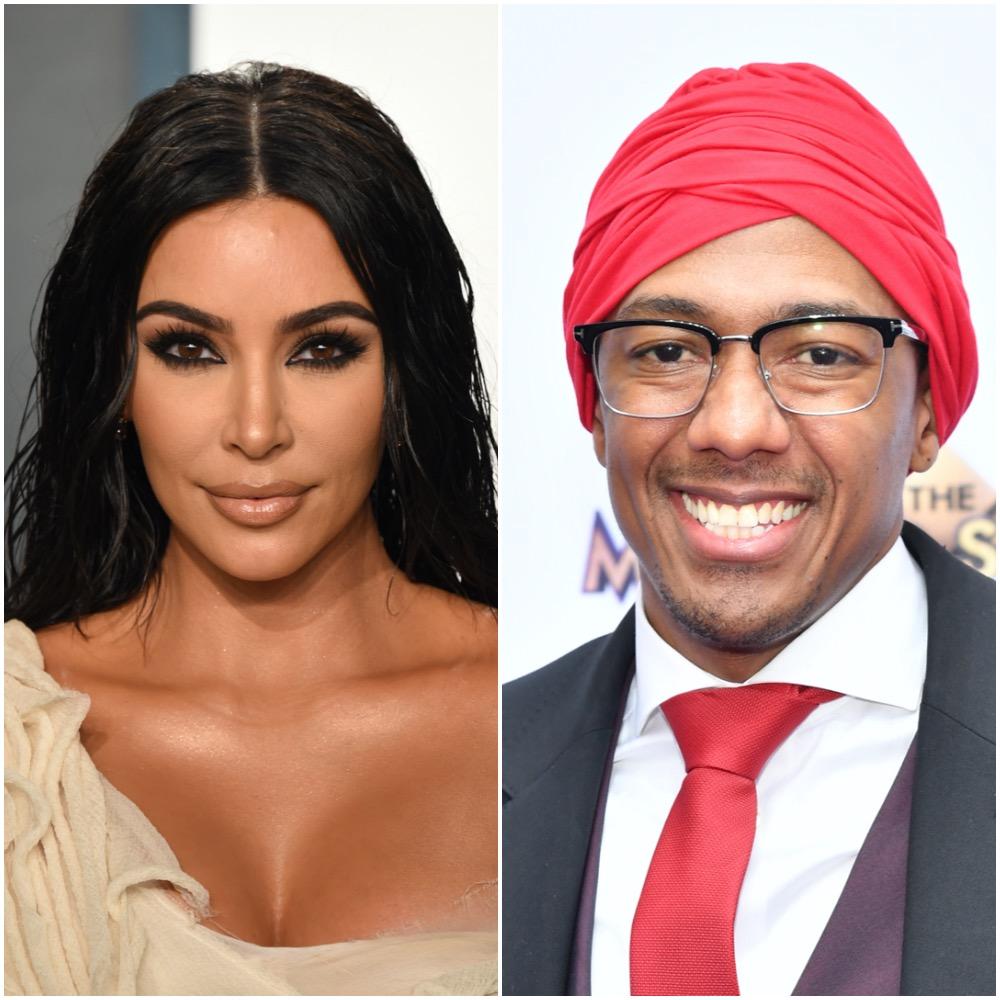 Kim Kardashian West and Nick Cannon