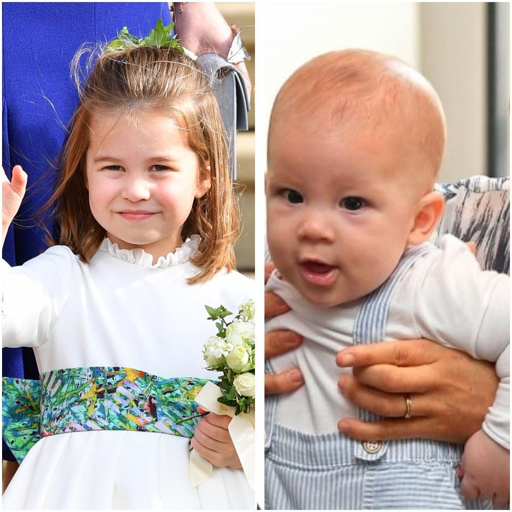 (L) Princess Charlotte, (R) Baby Archie