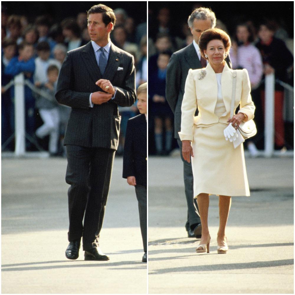 (L)Prince Charles, (R) Princess Margaret