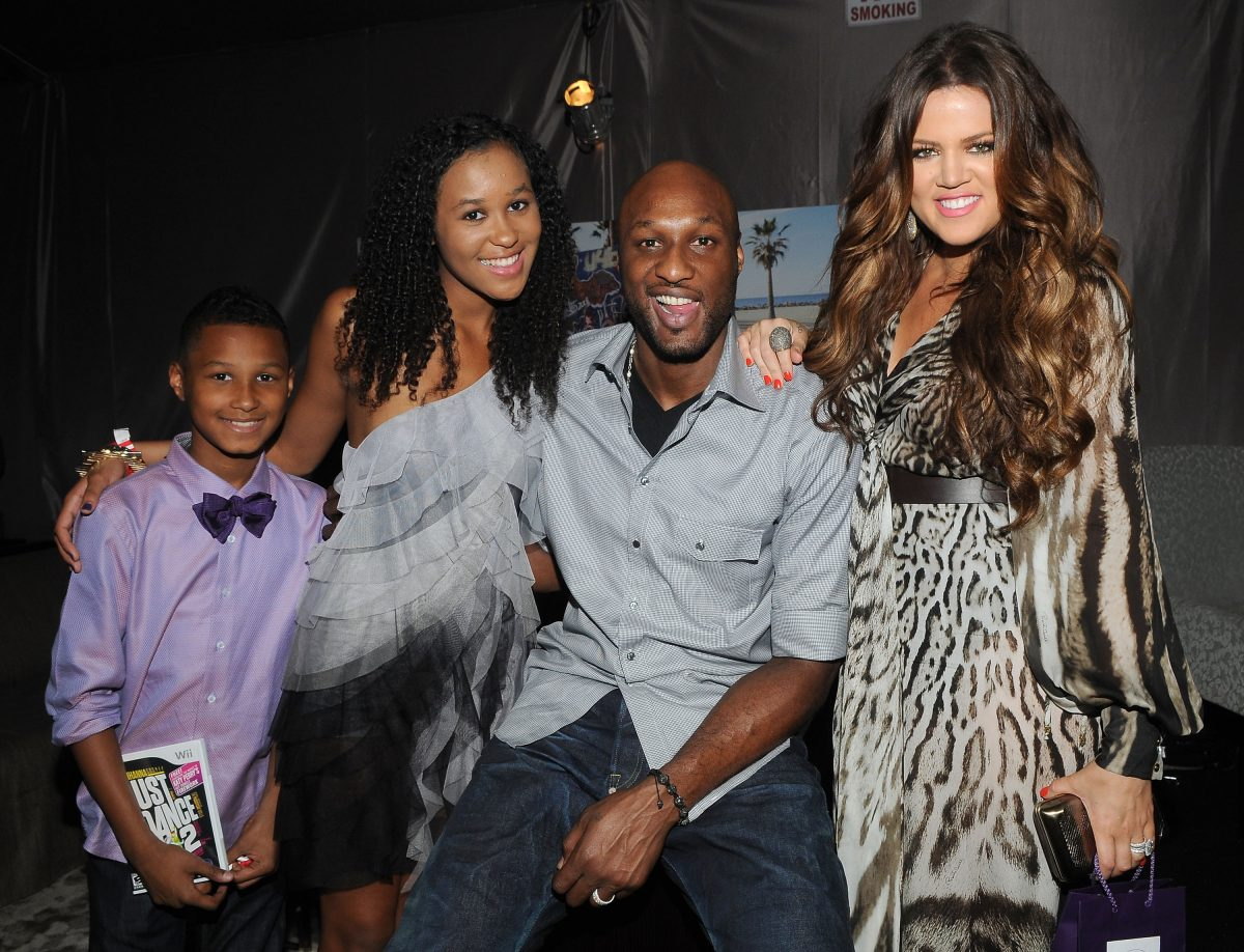 Lamar Odom Jr, Destiny Odom, Lamar Odom and Khloe Kardashian attend Backstage Creations Celebrity Retreat during Teen Choice 2011 day 2 at Gibson Amphitheatre on August 7, 2011 in Universal City, California.