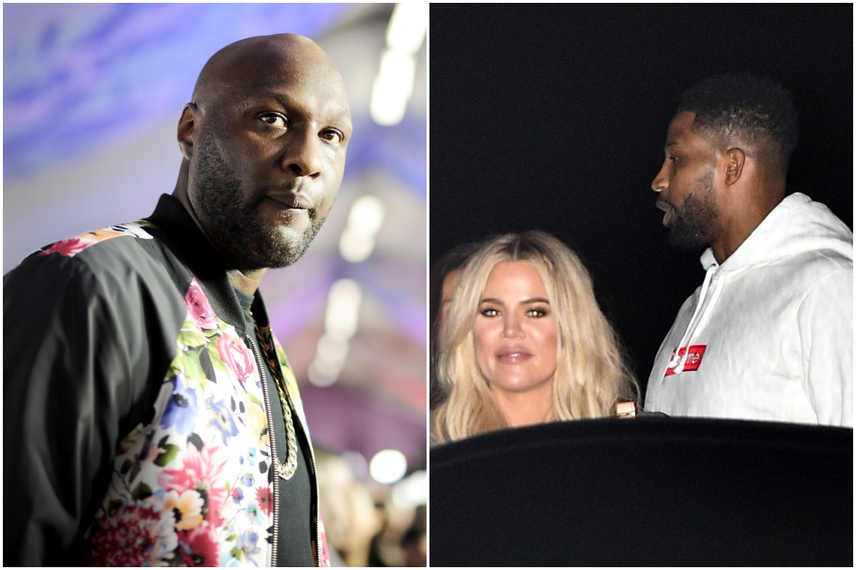 Former NBA player Lamar Odom at Nickelodeon's 2017 Kids' Choice Awards at USC Galen Center on March 11, 2017 in Los Angeles, California/Khloe Kardashian and Tristan Thompson are seen at Nobu on July 09, 2018 in Los Angeles, California.