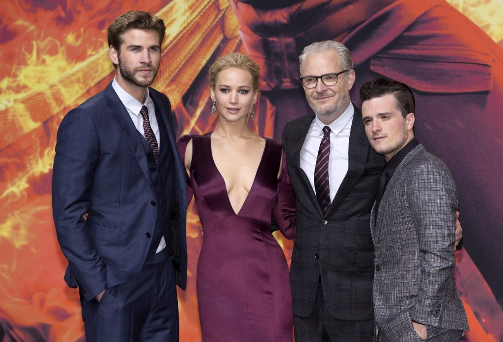 The Hunger Games cast and directorLiam Hemsworth, Jennifer Lawrence, Francis Lawrence, and Josh Hutcherson