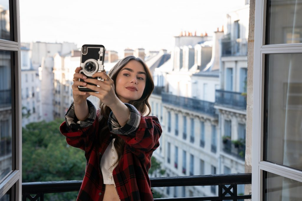 Lily Collins as Emily in Netflix series 'Emily in Paris.'