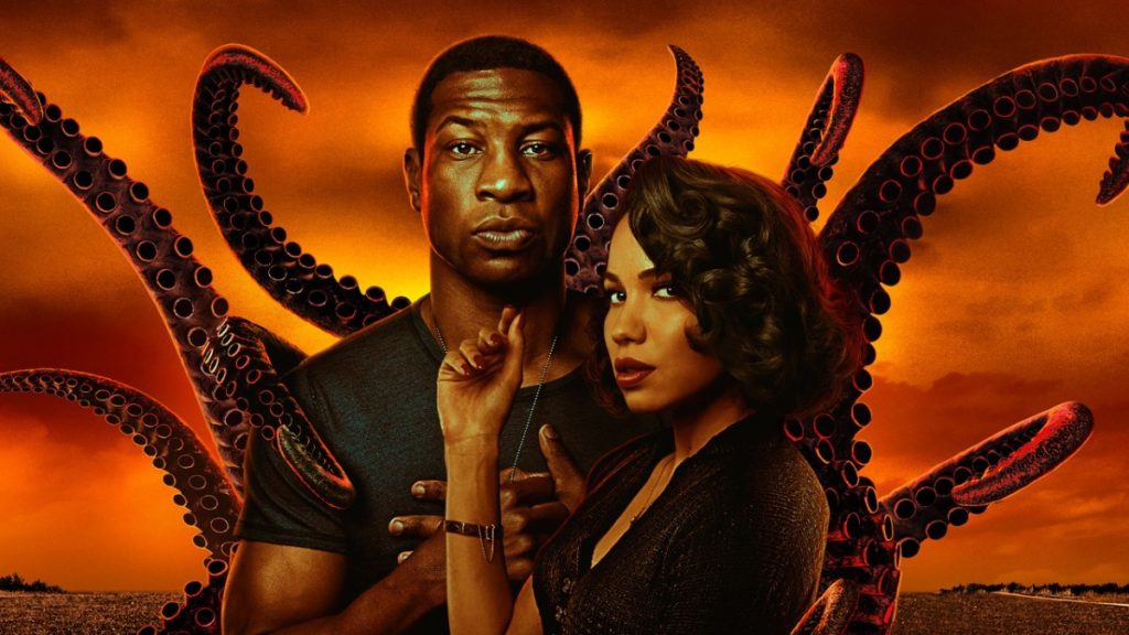 Jurnee Smollet as Leti and Jonathan Majors as Atticus in 'Lovecraft Country.'