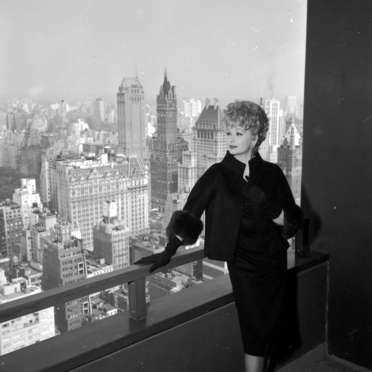 Lucille Ball at home