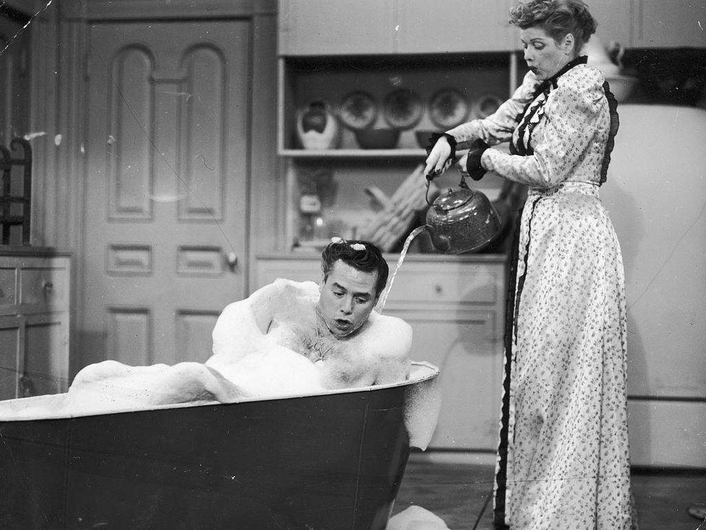 Lucille Ball and Desi Arnaz on I Love Lucy