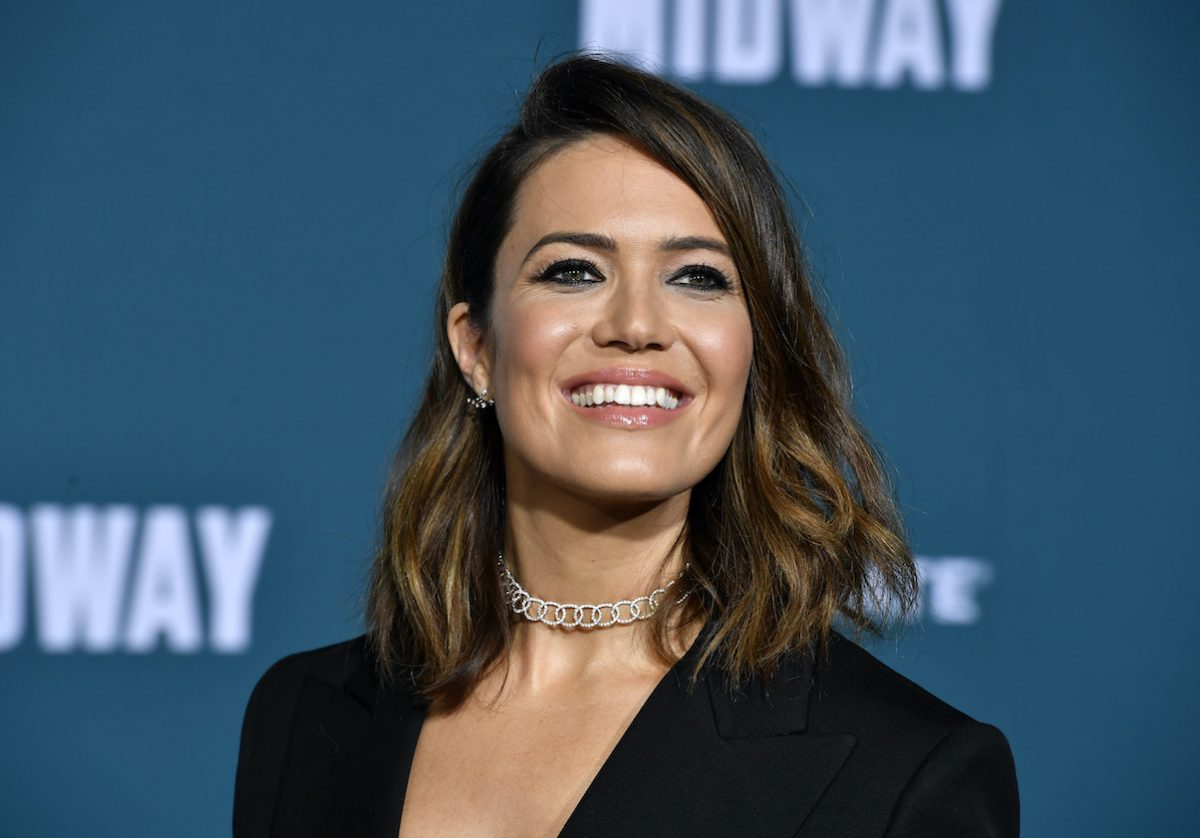 Mandy Moore at the premiere of 'Midway'