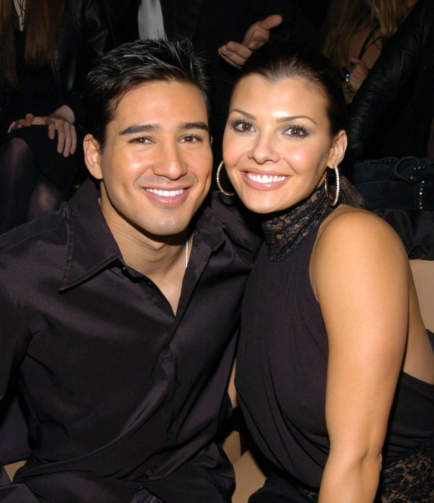 Mario Lopez and Ali Landry attend a launch party during their relationship