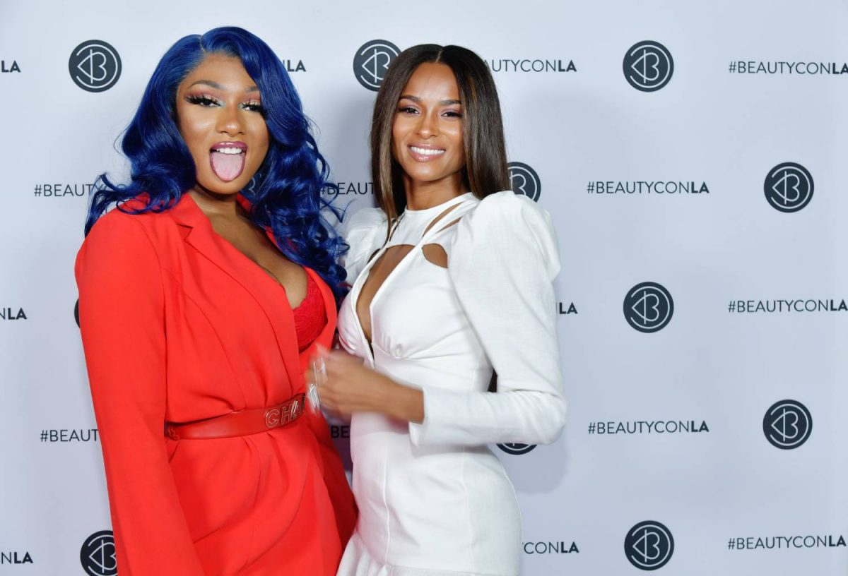 Megan Thee Stallion (L) and Ciara attend Beautycon Festival Los Angeles 2019 at Los Angeles Convention Center on August 11, 2019 in Los Angeles, California.