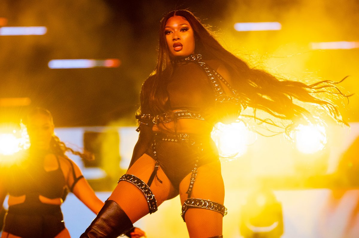 "Megan Thee Stallion performs onstage during Day 2 of ""Red Rocks Unpaused"" 3-Day Music Festival presented by Visible at Red Rocks Amphitheatre on September 02, 2020 in Morrison, Colorado."