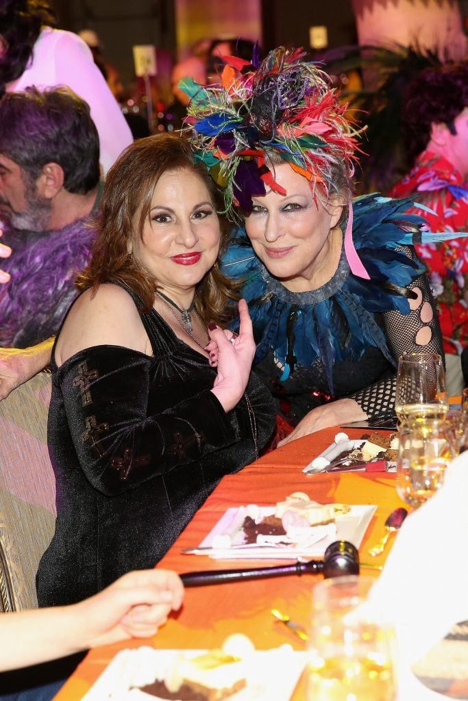 Kathy Najimy and Bette Midler attend Bette Midler's annual Hulaween Party celebrating New York Restoration Project's 20th anniversary