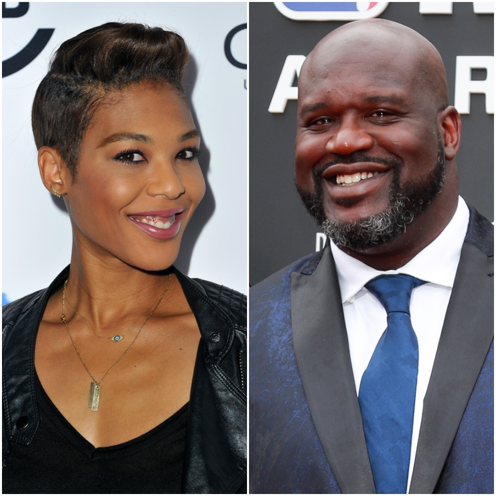 Moniece Slaughter and Shaquille O'Neal
