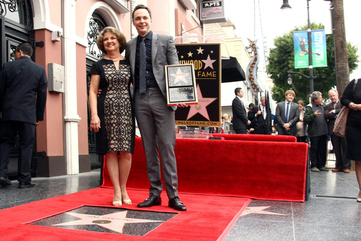 Mother Judy Parsons and Jim Parsons