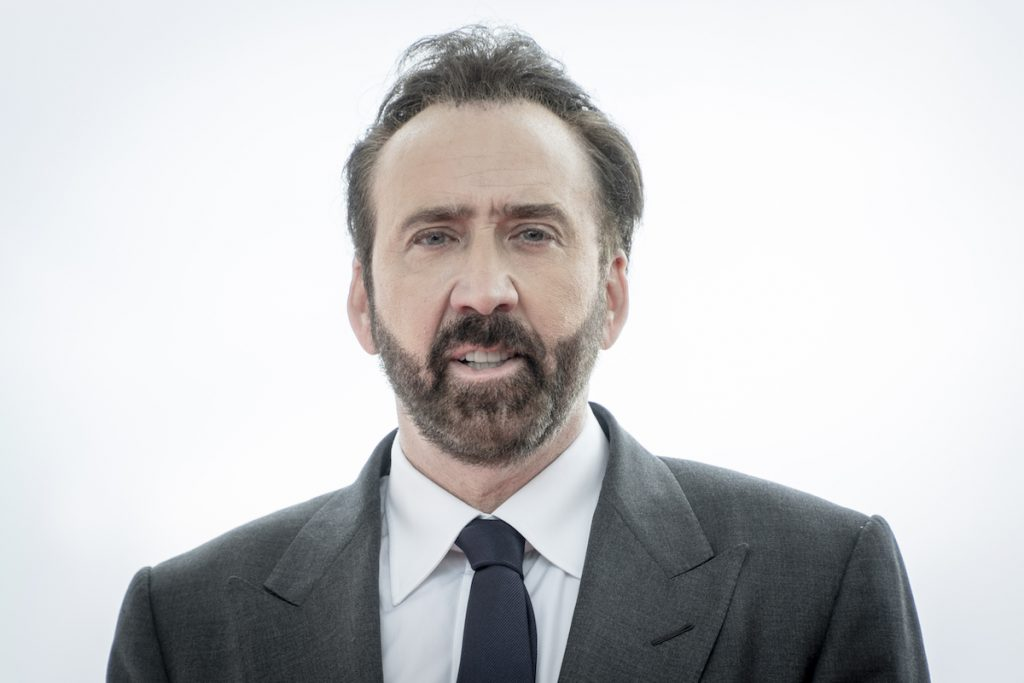 Nicolas Cage poses during a photocall