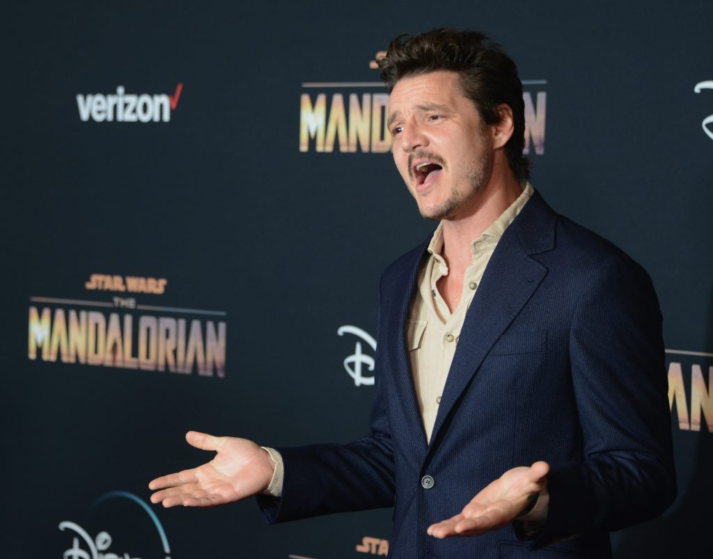 Pedro Pascal arrives for the premiere of Disney+'s 'The Mandalorian'