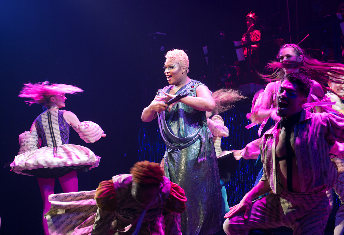 """Peppermint performs during the opening night curtain call of """"Head Over Heels"""" on Broadway"""