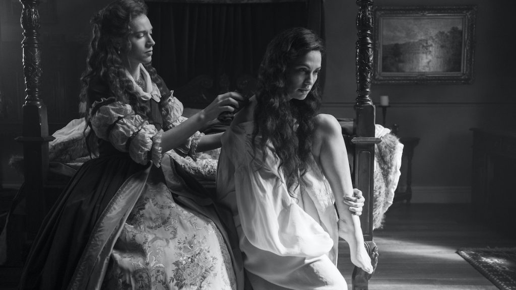 CATHERINE PARKER as PERDITA and KATE SIEGEL as VIOLA in THE HAUNTING OF BLY MANOR