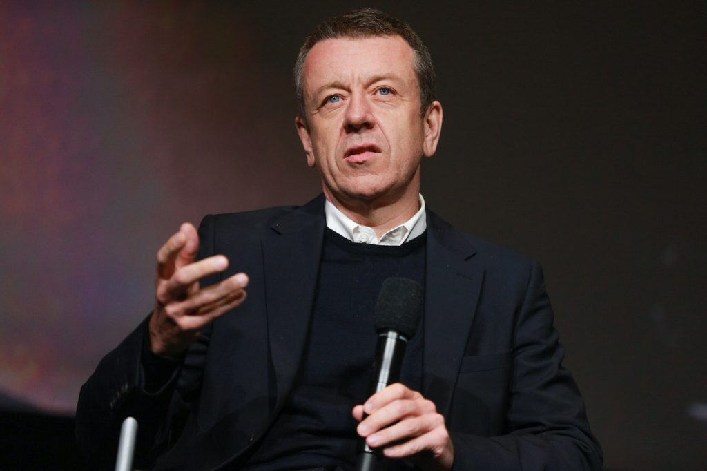 Peter Morgan speaks during the For Your Consideration event for 'The Crown'