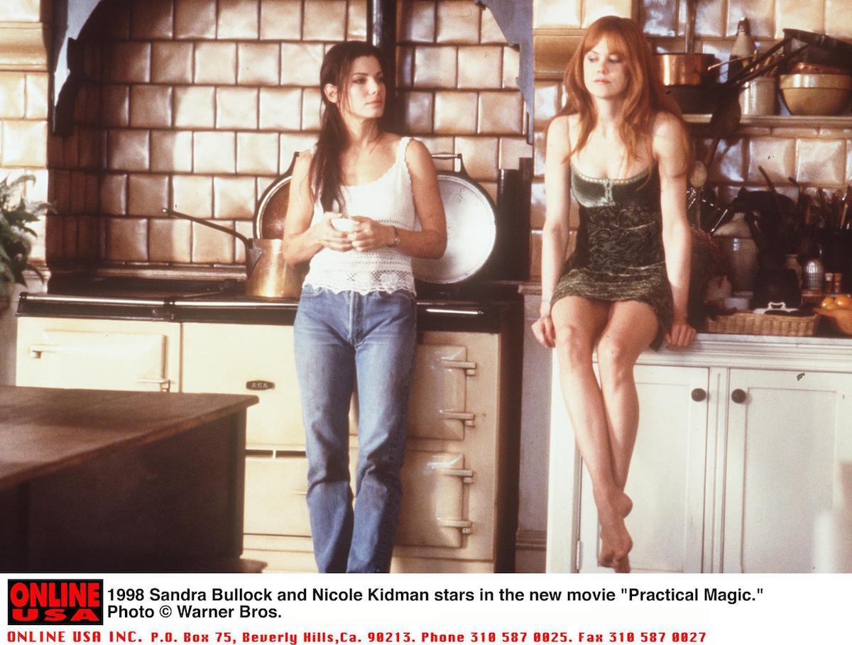 "Sandra Bullock and Nichole Kidman star in the new movie ""Practical Magic"""