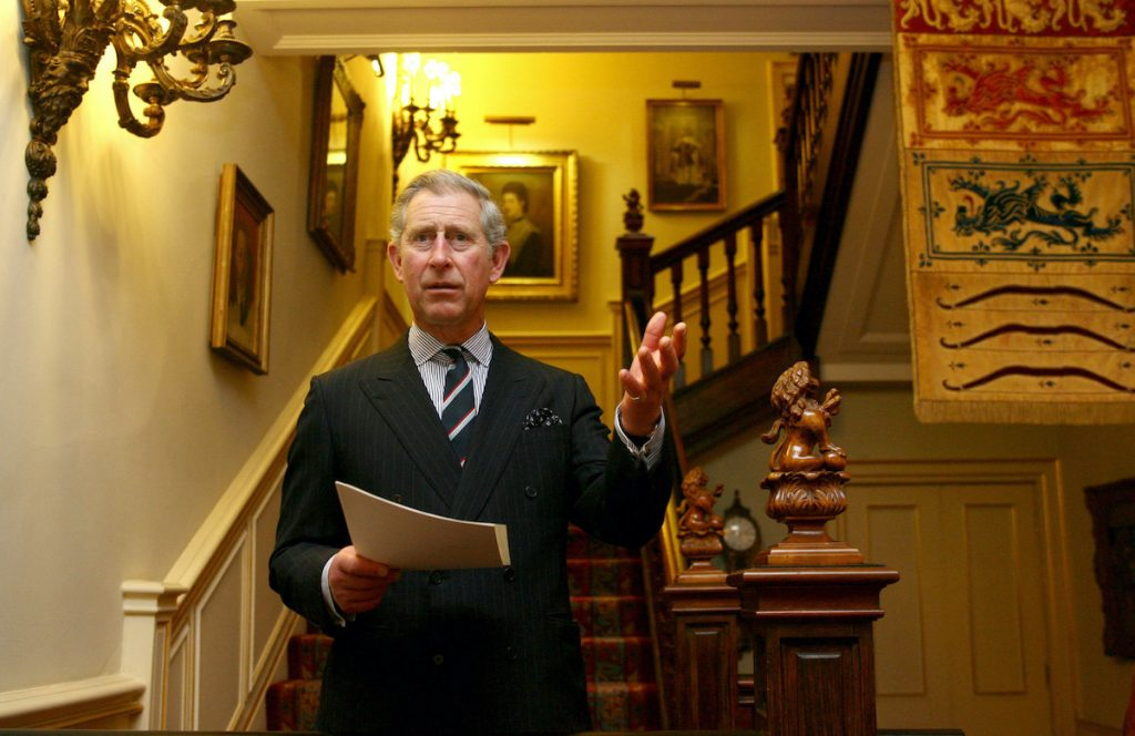 Prince Charles, Prince of Wales delivers a speech during the 'Pub is the Hub' reception in Clarence House to mark the 5th anniversary of the project aimed at moving rural services into pubs on March 9, 2007 in London, England