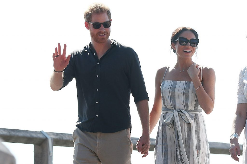 Prince Harry, Duke of Sussex and Meghan, Duchess of Sussex walking along Kingfisher bay walk about on October 22, 2018 in Fraser Island, Australia. The Duke and Duchess of Sussex are on their official 16-day Autumn tour visiting cities in Australia, Fiji, Tonga and New Zealand
