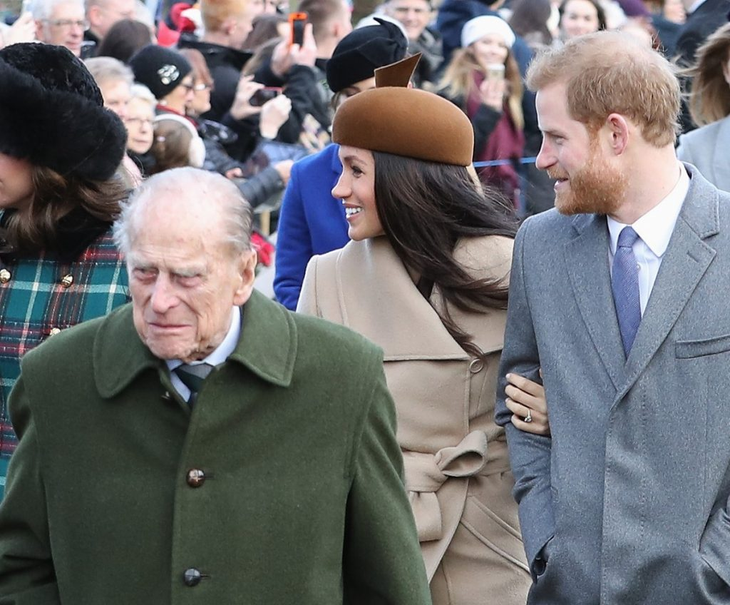Prince Philip, Meghan Markle, and Prince Harry