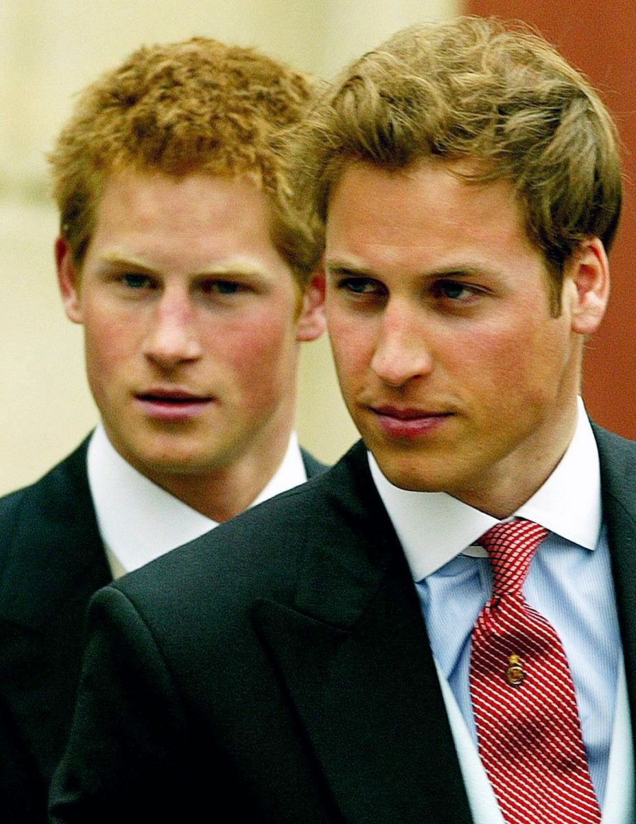 Prince William and Prince Harry after the wedding of Prince Charles and Camilla Parker Bowles